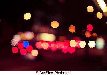 bokeh street trafic light - Photo of bokeh street trafic...