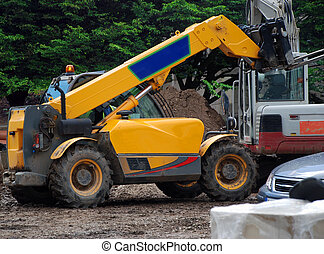 Fork Lift Truck - A photograph of a fork-lift truck active...