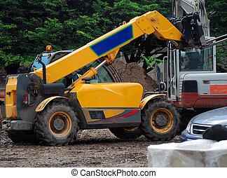 Fork Lift Truck - A photograph of a fork-lift truck active...