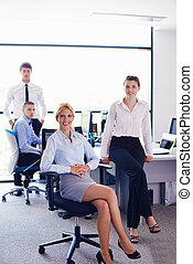 business people group - business people team group on a...