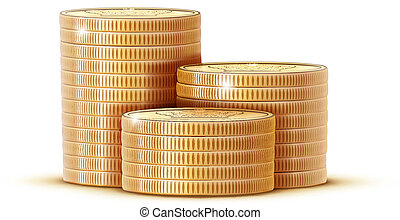 stacks of golden coins - Vector illustration stacks of...
