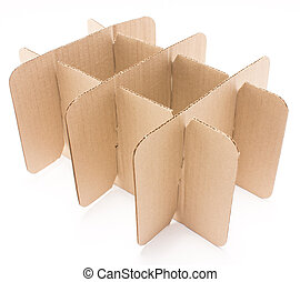 Stack of cardboard paper isolated on white background