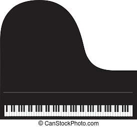 Grand Piano Background - Grand Piano Keyboard Isolated on...