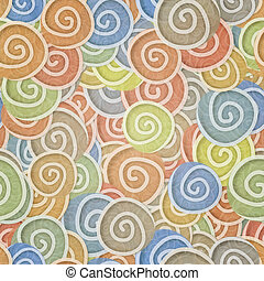seamless pattern pale colors curles - pale colors curles...