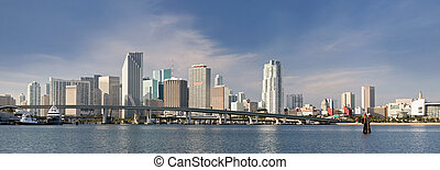 City of Miami Florida panorama - Miami Florida panorama of...