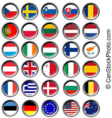 All EU flags in buttons