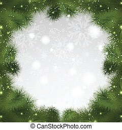 Christmas tree background - Christmas background of fir tree...