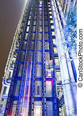 Night Time view, Lloyds of London - View of the famous...