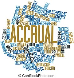 Word cloud for Accrual - Abstract word cloud for Accrual...