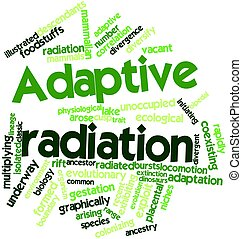 Word cloud for Adaptive radiation - Abstract word cloud for...