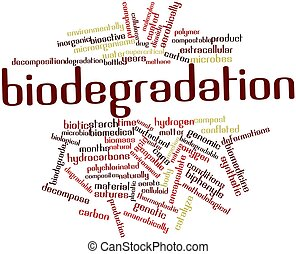 Biodegradation - Abstract word cloud for Biodegradation with...