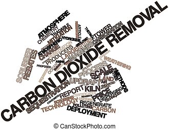 Carbon dioxide removal - Abstract word cloud for Carbon...