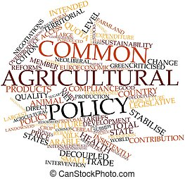 Common Agricultural Policy - Abstract word cloud for Common...