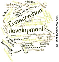 Conservation development - Abstract word cloud for...