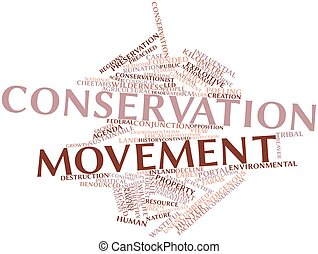 Word cloud for Conservation movement - Abstract word cloud...