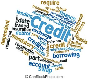 Word cloud for Credit - Abstract word cloud for Credit with...