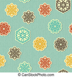 vector seamless pattern with highly detailed paper cut white...