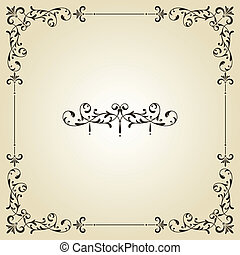 Vector Vintage Frame and Label - vector vintage floral frame...
