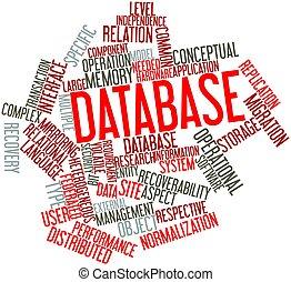 parola, nuvola,  database