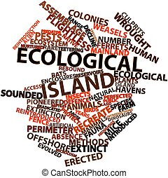 Ecological island - Abstract word cloud for Ecological...
