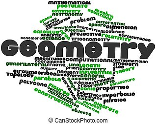 Geometry - Abstract word cloud for Geometry with related...