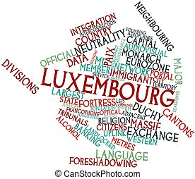 Luxembourg - Abstract word cloud for Luxembourg with related...