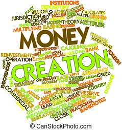 Word cloud for Money creation - Abstract word cloud for...
