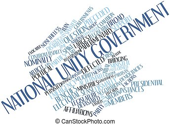 National unity government - Abstract word cloud for National...