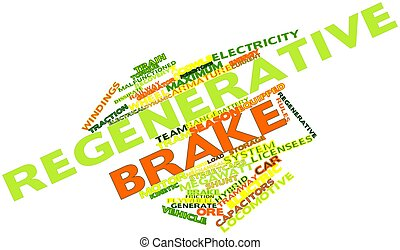 Word cloud for Regenerative brake - Abstract word cloud for...