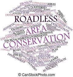 Word cloud for Roadless area conservation - Abstract word...