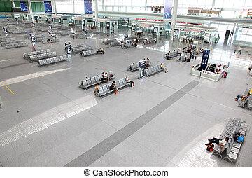GUANGZHOU, CHINA - JUNE 13: Guangzhou South Railway Station...