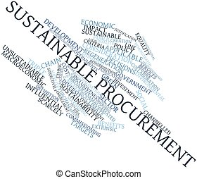 Sustainable procurement - Abstract word cloud for...