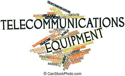 Telecommunications equipment - Abstract word cloud for...