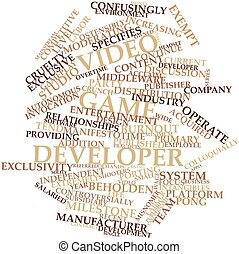 Word cloud for Video game developer - Abstract word cloud...