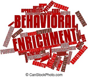 Behavioral enrichment - Abstract word cloud for Behavioral...