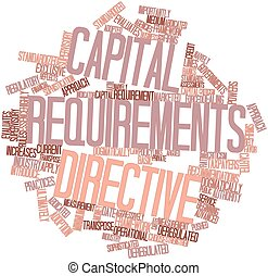 Capital Requirements Directive - Abstract word cloud for...