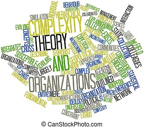 Complexity theory and organizations - Abstract word cloud...