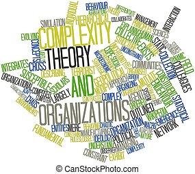 parola, nuvola, complessità, teoria, organizzazioni