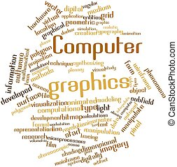 Computer graphics - Abstract word cloud for Computer...
