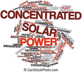 Concentrated solar power - Abstract word cloud for...