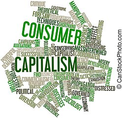 Word cloud for Consumer capitalism - Abstract word cloud for...
