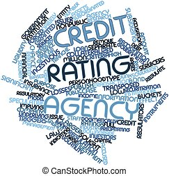 Word cloud for Credit rating agency - Abstract word cloud...