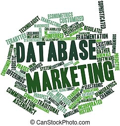 Word cloud for Database marketing - Abstract word cloud for...