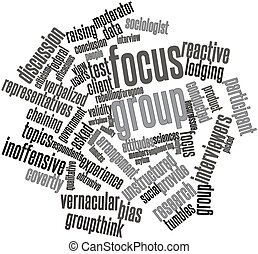 Focus group - Abstract word cloud for Focus group with...