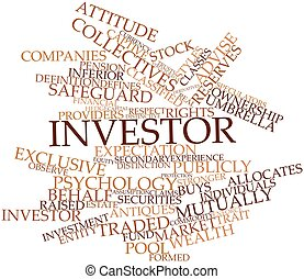 Investor - Abstract word cloud for Investor with related...
