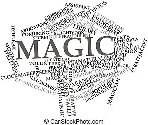 Magic - Abstract word cloud for Magic with related tags and...