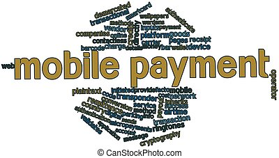 Word cloud for Mobile payment - Abstract word cloud for...