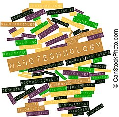 Nanotechnology - Abstract word cloud for Nanotechnology with...