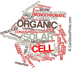 Word cloud for Organic solar cell - Abstract word cloud for...
