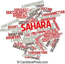 Sahara - Abstract word cloud for Sahara with related tags...